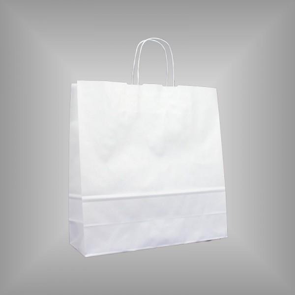 36 x 12 x 37 cm Papiertragetaschen weiß 250 Stück