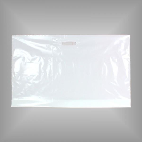 250 PE Tragetaschen weiß 76 x 50 + 5 cm