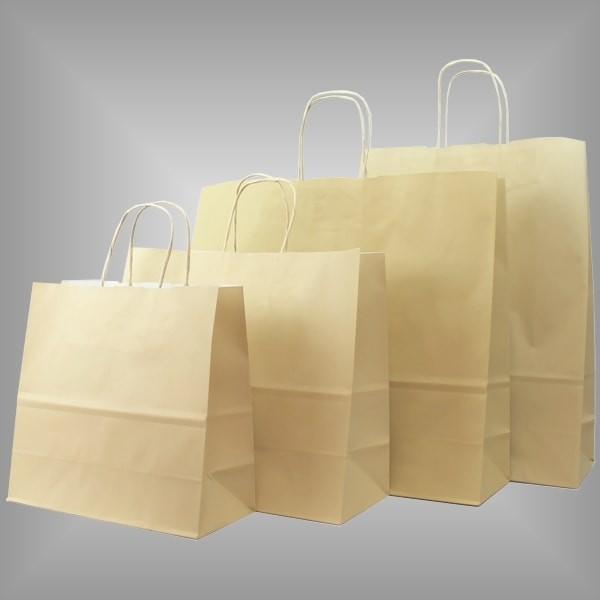 Papiertragetaschen sand