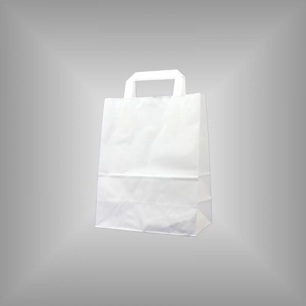22 x 10 x 28 cm Papiertüten weiß 250 Sück